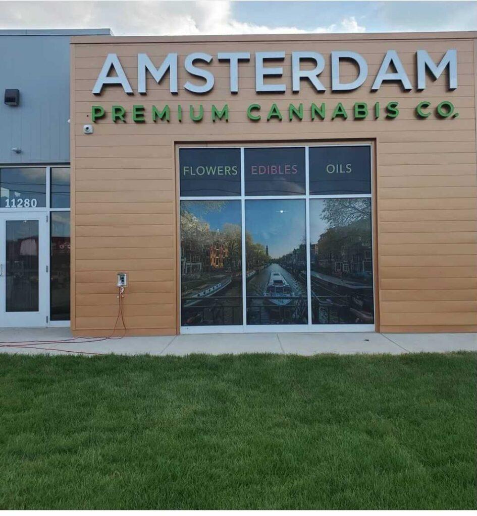Amsterdam BC Premium Cannabis entrance
